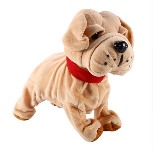 Battery Operated Plush Dog Novelty Electronic Puppy Toy For Kids Birthday Gift