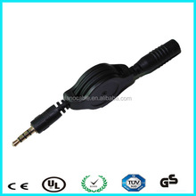 DONGGUAN 4-pole 3.5mm male to female audio extension cable