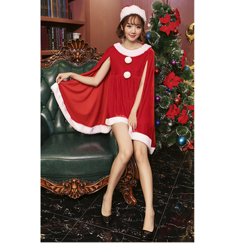 Wholesale Red Christmas Costume Dress Sexy Santa One-piece Dress For Women