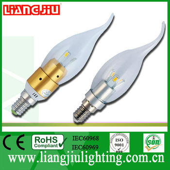 High brightness SMD 3W candle led bulb