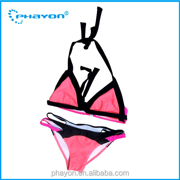 2016 Hot Popular Sexy Girls triangle Bikini Handmade Crochet triangle Swimwear