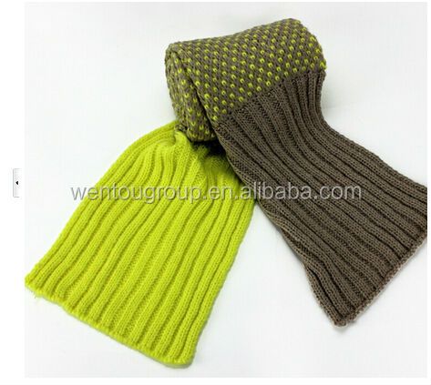 Long and thick fashionable soft loop knit men scarf