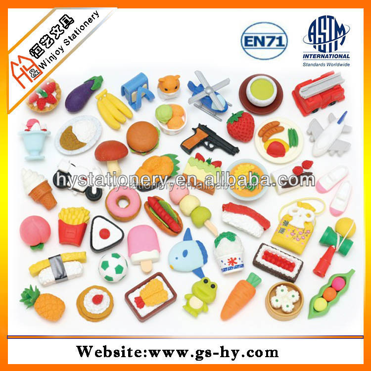Promotional novelty custom corn shape eraser rubber, cute school pencil rubber eraser for kids
