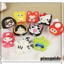 Custom Made Small Soft PVC Charm Dust Plug For Android Mobile Phone