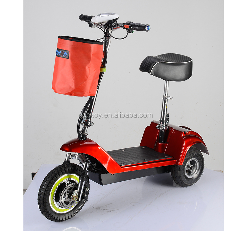 Newest folding 3 wheels handicap electric mobility scooter with seat