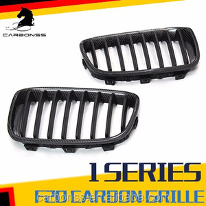 Carbon Fiber Gloss Black Front Grille Mesh Grill for BMW F20 1 Series