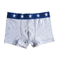 Basic cotton spandex young boy boxer Well wearing young boy underwear trunk