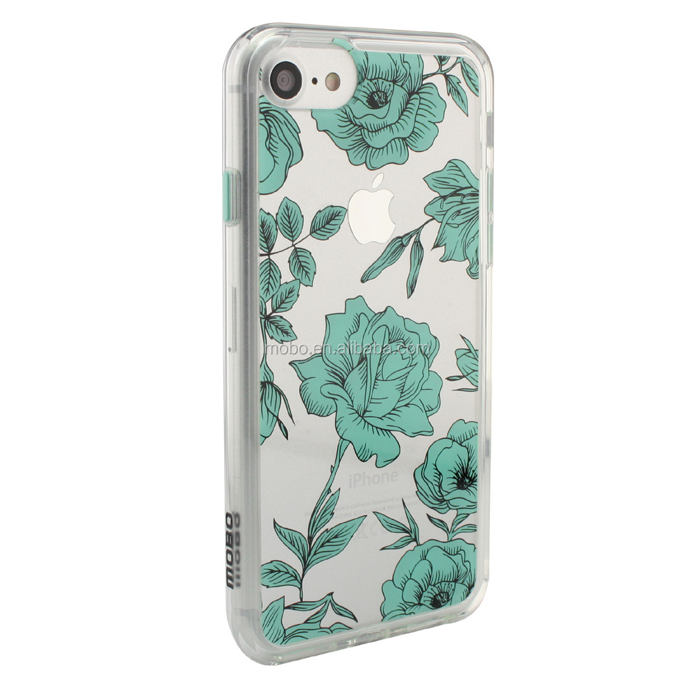 new 2016 IP7S protecting case in flower luxury design in slim PC materails
