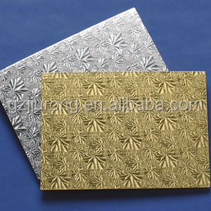 Gold Foil Coated food grade greaseproof rectangle gray cake board