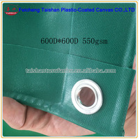 600D*600D 550gsm pvc coated tarpaulin material for truck cover