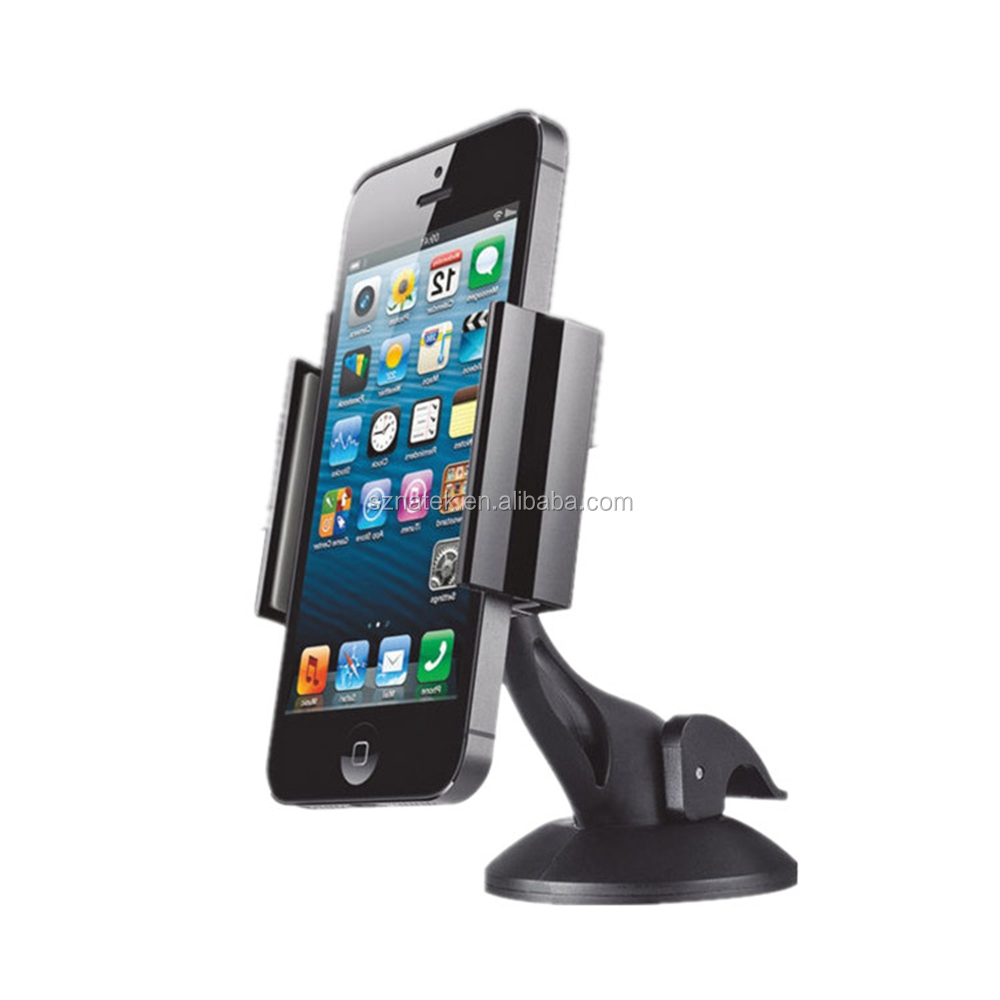 Car Holder Universal Windshield Cell Phone Holder Cradle Flexible 360 Rotating Car Mount for almost Smartphone