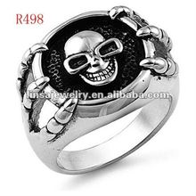 wholesale skull casting 316L military stainless steel ring