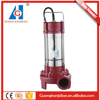 Automatic control 2HP cast iron pump body low pressure single phase cutting submersible water pump
