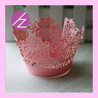 Laser Cut Hallowween decoration gift cupcake wrappers gift DG-19