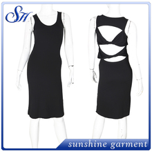 New style sleeveless women backless dresses night club dress