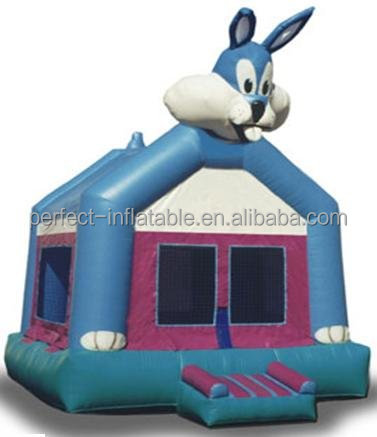Famous and Funny inflatable Big Teeth Rabit inflatable air bounce for hot sale