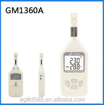 Hot sell Digital Humidity Temperature Meter Hygrometer Thermometer with Dew Point Pick Up GM1360A