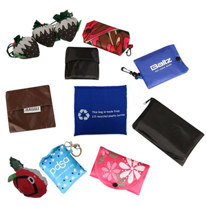 Reusable polyester foldable RPET shopping bag