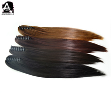 Angelbella Clip Ponytail Best Synthetic Hair Brown Straight Ponytails For Black Hair