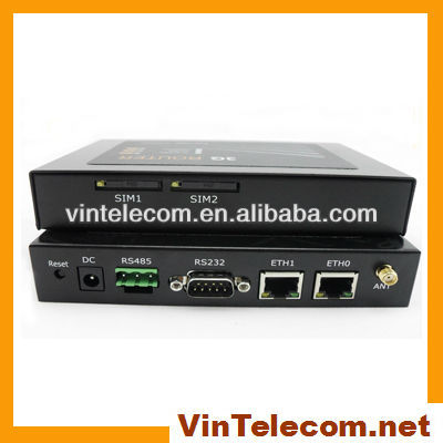 High quality 3G industrial router M2M with 2SIM slots / DTU for ATM / bank network