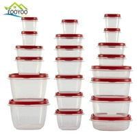 Clear plastic food disposable container sets container storage