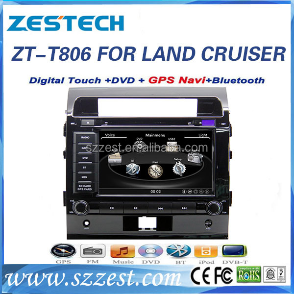 ZESTECH 800*480 Car DVD Player GPS Stereo for Toyota Land Cruiser (2008-2012) In Dash Navigation Receiver with free map card
