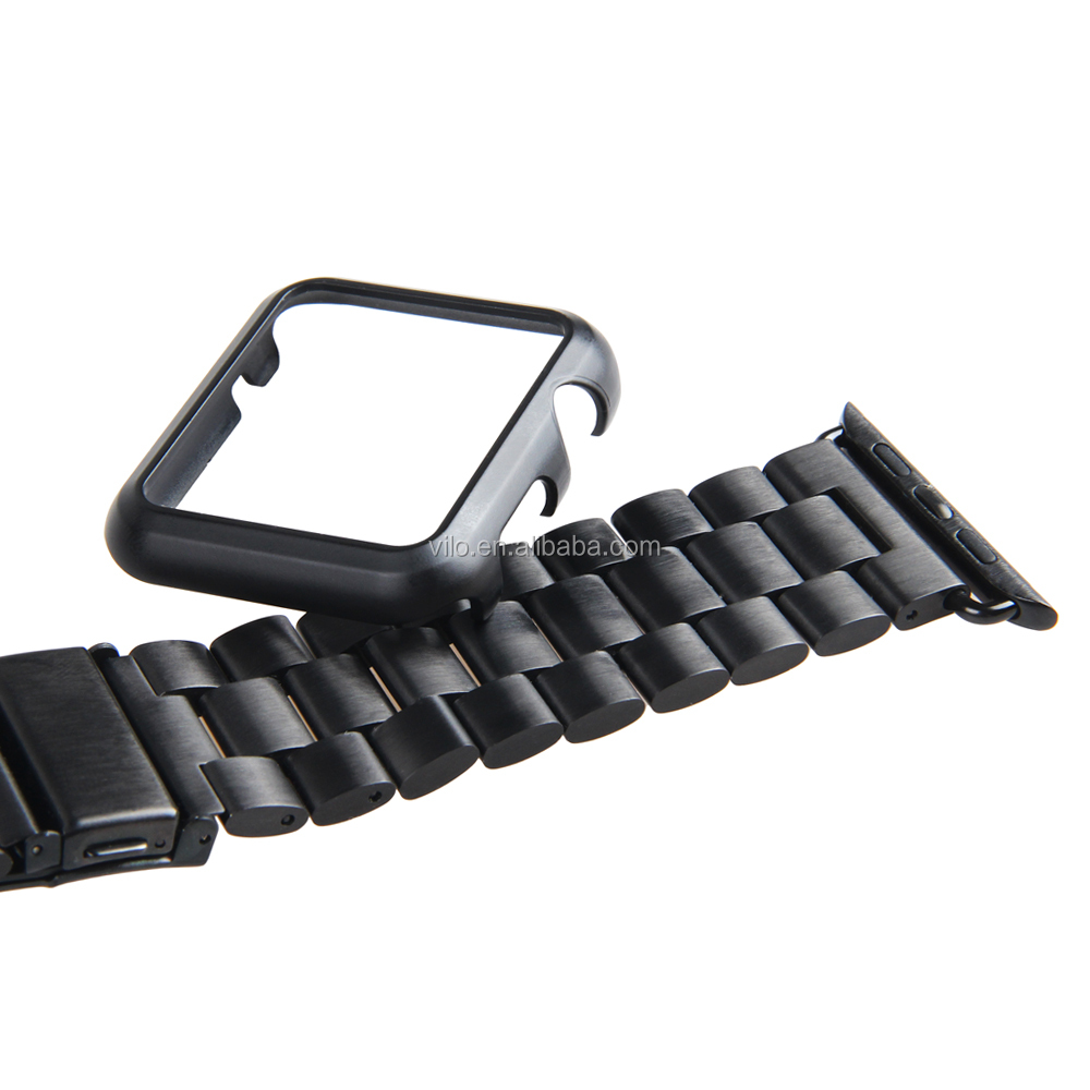 For apple watch black stainless steel band,for apple watch sport band black with frame