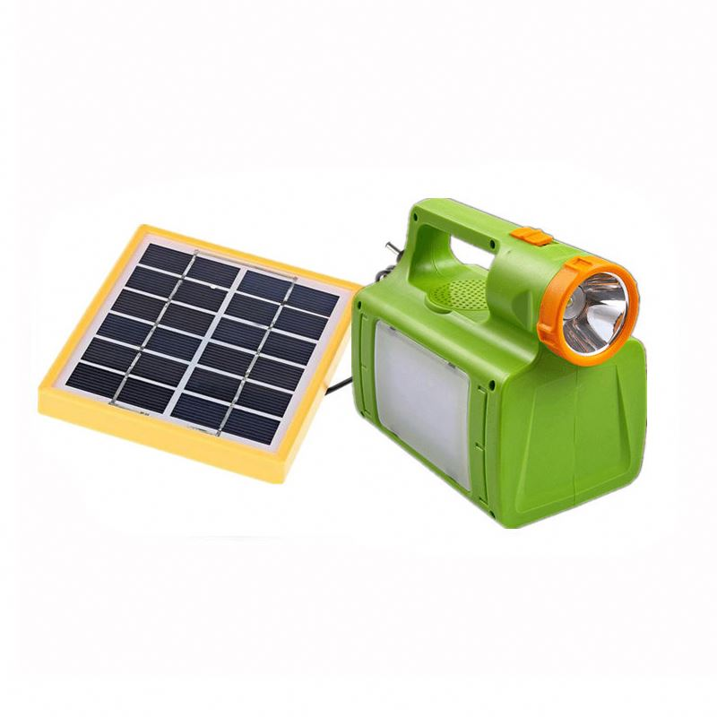 DC solar home lighting system with solar panel 2w and ac charger