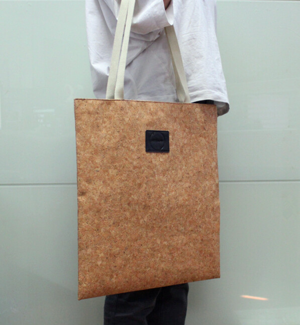 cork tote bag - Ecofriendly leather cork tote bag