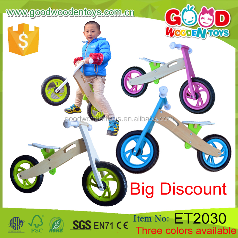 Multi-functional Walking Learning Toy Child Balance Bike Colorful Wooden Baby Walker for Sale