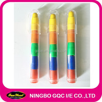 Jumbo Mulit color stacker crayon, accept customized designs