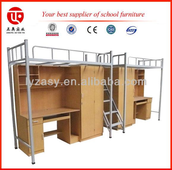 stapelbed met bureau/moderne ijzeren bed/metal dubbel hoogslaper ...