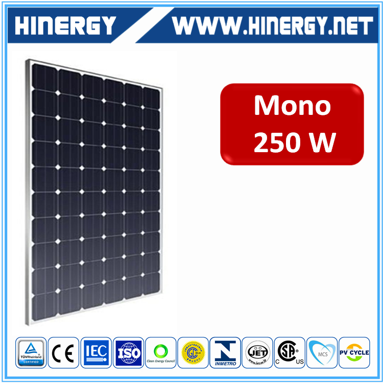low price high efficiency panel solar 250w top popular 250w mono crystalline pv module 250watt sun power solar panel ce
