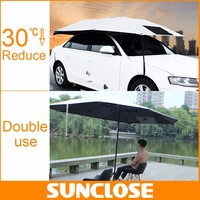 SUNCLOSE xl automatic car cover inflatable folding car cover rain snow protection car front window shade