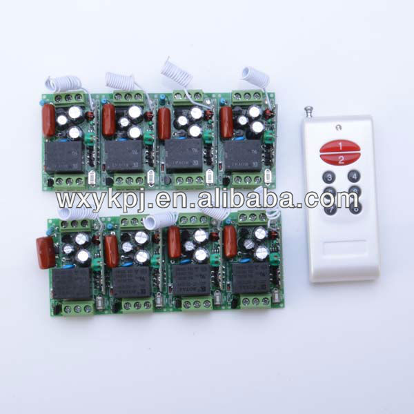 220vac 1 channel/ 1ch rf wireless remote control switch board