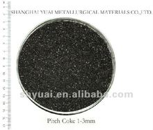 1-5mm High FC Low S Carbon Pitch Coke