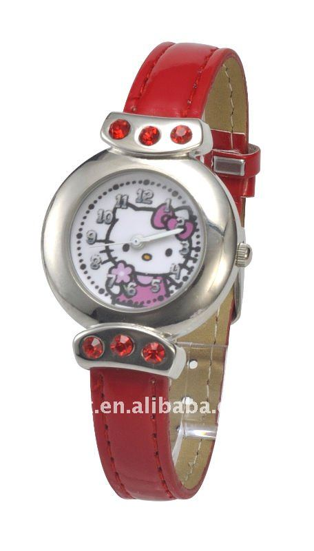 2011 hot design hello kitty quartz watch