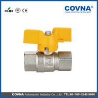 Butterfly handle gas valve types full flow Ball Valve brass gas valve with low price
