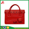 2017 Fashion lady messenger hand bag red leather clutch bag