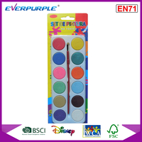 EN71 new packing water colorcake,12 colors water color cake,water color paint set