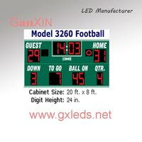 Red indoor high quality alibaba express basketball scoreboards for sale