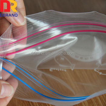high quality reusable ziplock bag double zipper bag with different size/double zipper bag