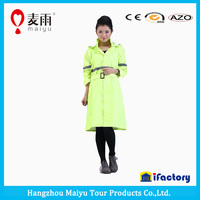 windbreak reflective 2015 women fashion long pvc rain poncho