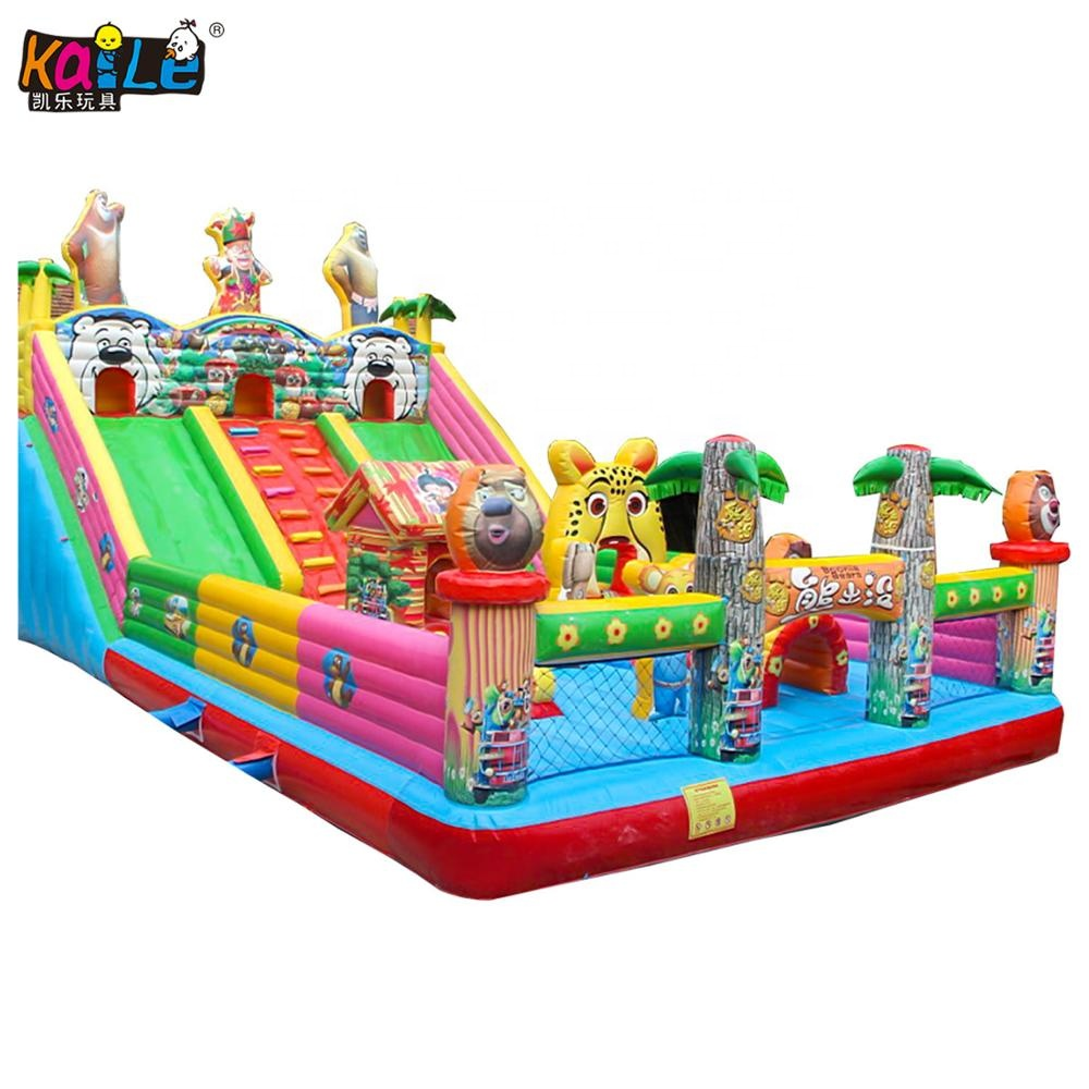 Hot Sale Commercial Bear Cartoon Inflatable Bouncer Jumping Bouncy Castle For Kids