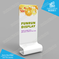 Snake-Shaped Portable Tension Fabric Trade Show Display Singular Stand