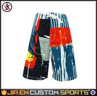 Hot selling manufacturer brand board shorts & beach shorts with stripe and draw card design for men