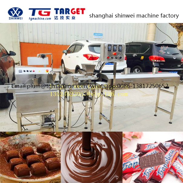 JZJ30 lab Chocolate enrobing machine add 4m Cooling tunnel