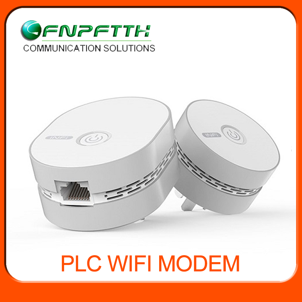 Plug and play Power Line communication cable modem wifi router
