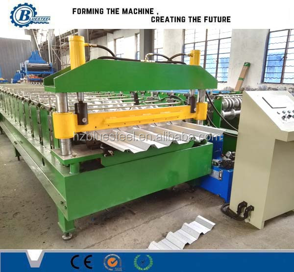 Steel Roof Forming Machine / Galvanized Trapezoidal Profile Metal Roofing Machines For Sale