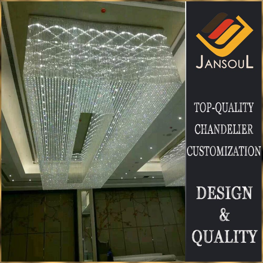Modern, high-quality flush mounts crystal chandelier lighting for hotel and lobby